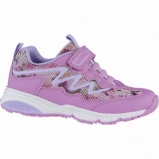 Geox modische Mädchen Synthetik Sneakers fuchsia, Geox Laufsohle, Antishock, 3340134/31