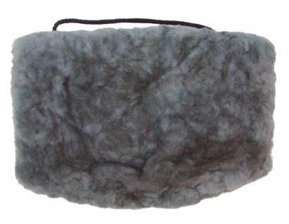 warmer Lammfell Pelzmuff, Felltasche grau ca. 28x20 cm, waschbar, mit Reißver...