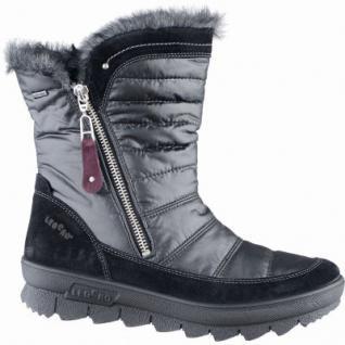 Legero superwarme Damen Komfort Leder/Textil Stiefel schwarz mit Goretex, Warmfutter, warmes Fußbett, Weite G, 4539104/4.5