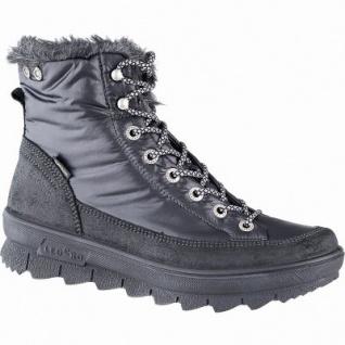 Legero superwarmer Damen Leder Stiefel schwarz, 13 cm Schaft, hochisolierende Sohle, Gore Tex, Comfort Weite G, 1741133/7.0