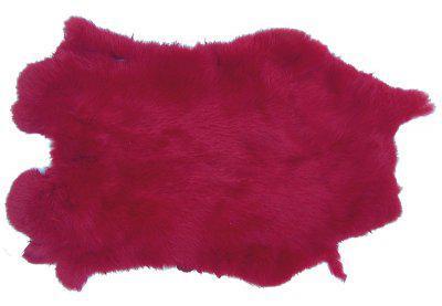 Kaninchenfelle rot gefärbt ca. 30x30 cm, Felle vom Kaninchen mit seidigem Haar