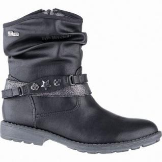 s.Oliver Mädchen Leder Imitat Tex Stiefeletten black, 14 cm Schaft, leichtes Futter, weiches Soft Foam Fußbett, 3741104/36