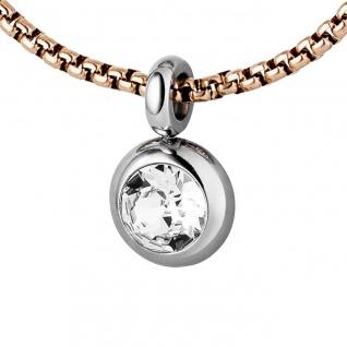 Collier Kette mit Anhänger Edelstahl mit SWAROVSKI® ELEMENT 70 cm Halskette