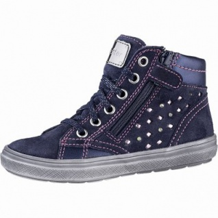 Richter Mädchen Leder Sneakers atlantic, mittlere Weite, Textilfutter, herausnehmbares Leder Fußbett, 3341111/25