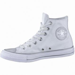 Converse CTAS - Metallic Toecap - HI coole Damen Canvas Metallic Sneakers white, Converse Laufsohle, 1240116/36