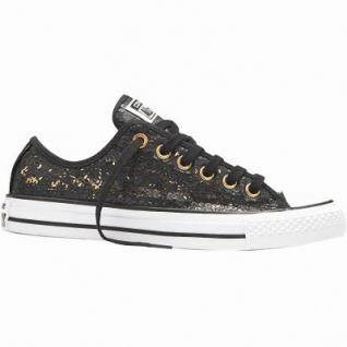 Converse CTAS Chuck Taylor All Star Sequins Damen Canvas Chucks black/white/gold, 1236224