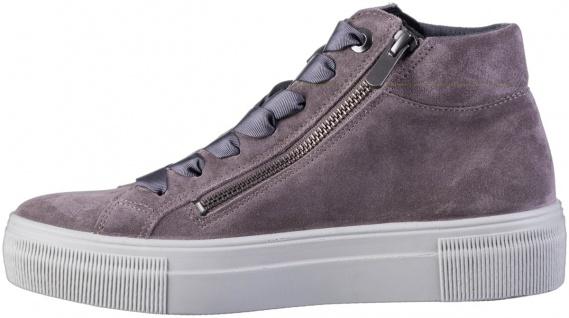 LEGERO Damen Leder Sneakers dark clay, Comfort Weite G, Textilfutter