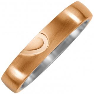 Partner Ring Halbes Herz aus Titan und Bronze Partnerring