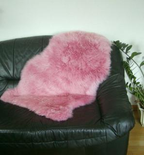 Natur Lammfell pink, ökologische Gerbung mit Alaun, pflanzliche Färbung, waschbar, ca. 105 cm