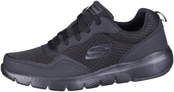 SKECHERS Flex Advantage 3.0 Herren Mesh Sneakers black, Textilfutter, Air Coo...