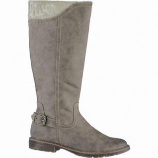 s.Oliver modische Damen Leder-Imitat Winter Stiefel cashmere, molliges Warmfutter, Soft-Foam-Fußbett, 1639333