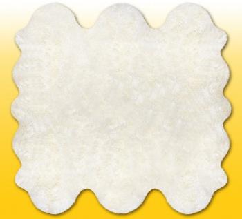 Fellteppiche naturweiß aus 6 Lammfellen, Größe ca. 185 x 180 cm, 30 Grad wasc...
