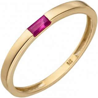 Damen Ring 375 Gold Gelbgold 1 Rubin Goldring Rubinring