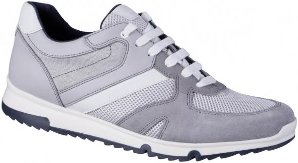 GEOX Herren Synthetik Sneakers light grey, Meshfutter, atmungsaktive Geox Lau...