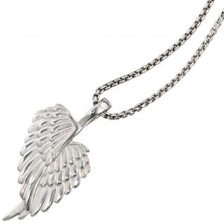 Anhänger Flügel Engelsflügel 925 Sterling Silber rhodiniert mattiert