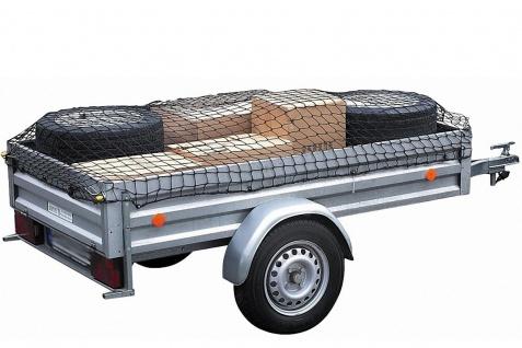 elastisches Transportnetz für Anhänger 100x180-150x250 cm, Maschenweite 15 cm...