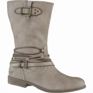 Mustang coole Damen Synthetik Stiefel taupe, Warmfutter, weiche Decksohle, 1639114/36