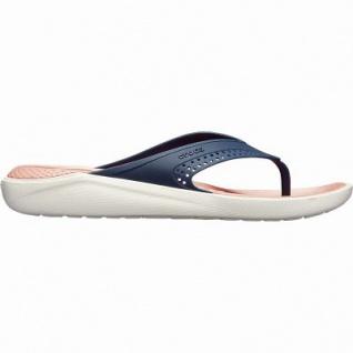 Crocs Lite Ride Flip superweiche + leichte Damen Flips navy melon, 4342110/36-37