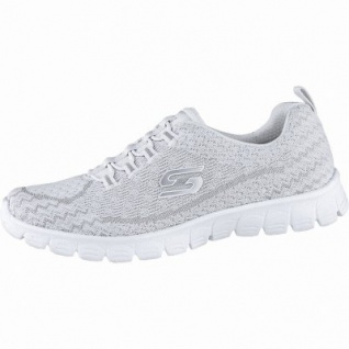 Skechers EZ FLex 3.0 coole Damen Strick Sneakers white, Skechers Air-Cooled-Memory-Foam-Fußbett, 4240187