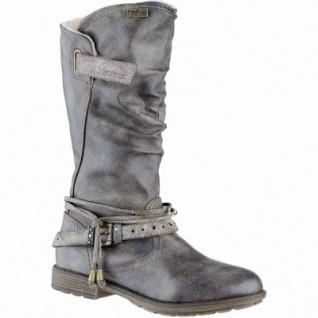 Mustang Mädchen Synthetik Winter Tex Stiefel grau, Warmfutter, warme Decksohle, 3739217/33