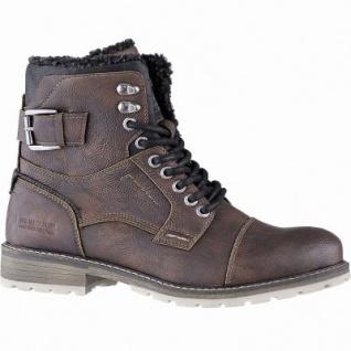 TOM TAILOR sportliche Herren Leder Imitat Winter Boots brandy, 14 cm Schaft, molliges Warmfutter, warmes Fußbett, 2541120/41