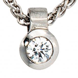 Anhänger rund 950 Platin matt 1 Diamant Brillant 0, 12ct. Platinanhänger