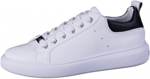 TOM TAILOR Herren Leder Imitat Sneakers white, weiches TOM TAILOR Fußbett mit...