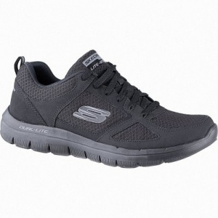 Skechers Flex Advantage 2.0 Lindman Herren Synthetik Sneakers black, Air-Cooled Memory Foam-Fußbett, 4241149/39