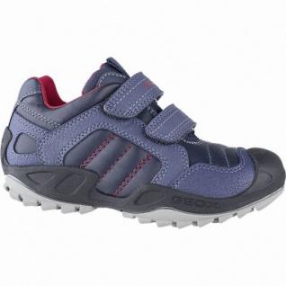 Geox Jungen Synthetik Sneakers navy, chromfrei, Meshfutter. Leder Fußbett, 3341105