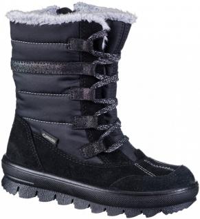SUPERFIT Mädchen Winter Leder Tex Boots schwarz, mittlere Weite molliges Warm...