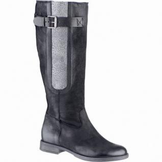 CoCama & Me trendige Damen Leder Winter Stiefel schwarz, Warmfutter, 1639321