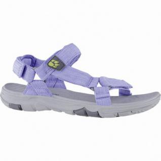 size 40 36983 f4c57 Jack Wolfskin Seven Seas 2 Sandal W Damen Polyester Outdoor Sandalen blue,  Wolf Wind-Laufsohle, 1440225/4.0