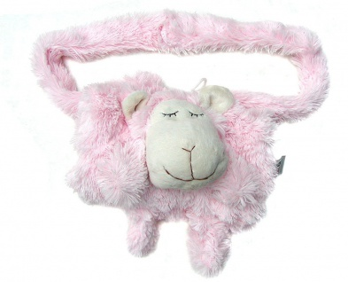 niedlicher warmer Kinder Muff Schaf rosa aus Microfaser für warme Kinder Händ...