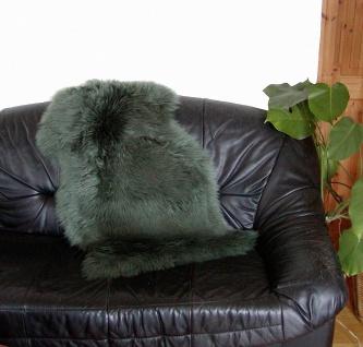 australische Lammfelle dunkelgrün gefärbt, vollwollig, 30 Grad waschbar, Haar...