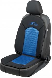 komfortable Universal Polyester Auto Sitzauflage S-Race blau, 12 mm Schaumstoff Polsterung, waschbar, PKW Sitzaufleger