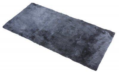 Universal Lammfell Auflage anthrazit, als Auflage im Auto, kleiner Lammfell Teppich, Lammfell Fußmatte, ca. 120x60 cm