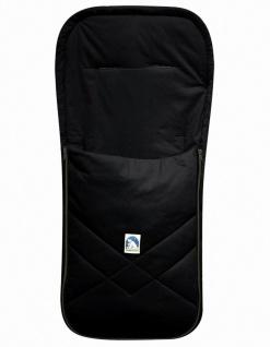 Baby Sommer Fußsack mit Baumwolle schwarz, waschbar, für Kinderwagen, Buggy, ...