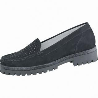 Waldläufer Hanako modische Damen Leder Slipper schwarz, Weite H, für lose Einlagen, Lederfußbett, 1337119