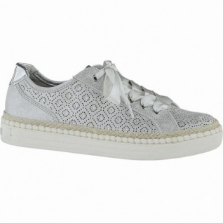 Marco Tozzi coole Damen Metallic Synthetik Sneakers silber, gepolsterte Feel me Decksohle, 1240155/36