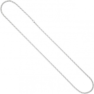 Ankerkette 925 Silber 3, 0 mm 60 cm Halskette Kette Silberkette Karabiner - Vorschau 3