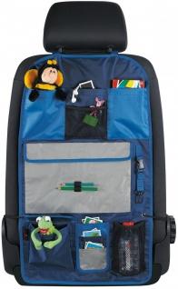 Polyester Kinder Auto Rücksitz Organizer mit Taschen blau, PKW Rückenlehnen S...