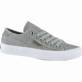 Dockers sportliche Damen Canvas Sneakers khaki, weiches Fußbett, modische Sneaker Laufsohle, 1240207