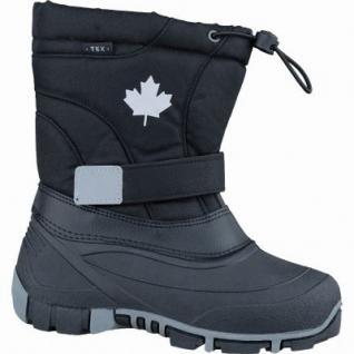 Canadians Mädchen und Jungen Winter Synthetik Tex Boots black, Warmfutter, weiches Fußbett, 4537117