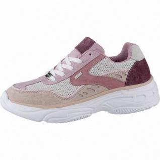 MEXX coole Damen Leder Sneakers pink, Meshfutter, herausnehmbares Fußbett, 1242208/36