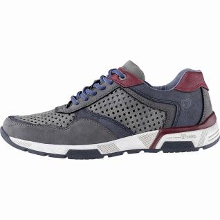 TOM TAILOR sportliche Herren Leder Imitat Sneakers grey, Textilfutter, gepols...