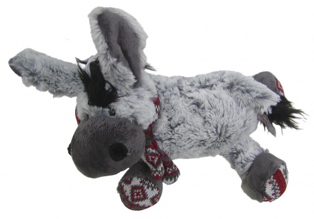 süßes superweiches Stofftier Esel mit Schal aus Mikrofaser, voll waschbar bei...