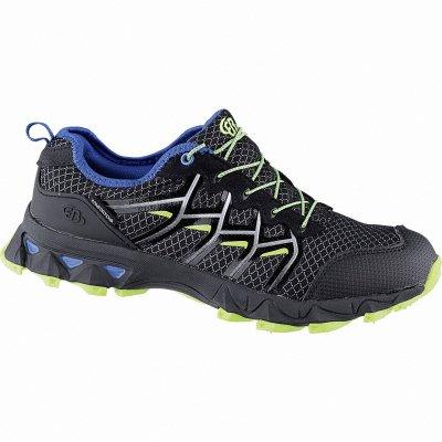 Brütting Countdown Herren Nylon Trekking Schuhe schwarz, Comfortex Klimamembrane, 4442138 38 schwarz blau lemon