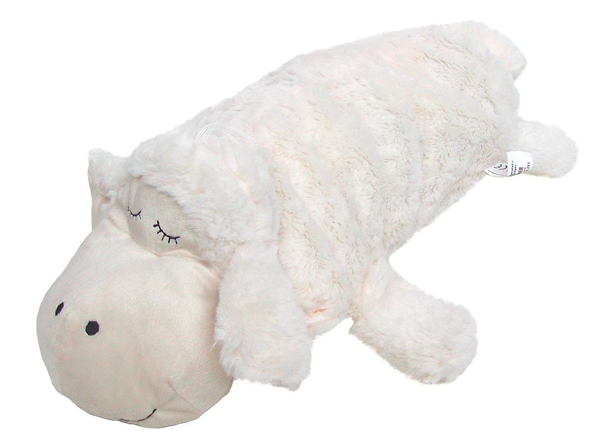voll waschbar ca 40 cm lang Chamier Lammfellprodukte Kinder Kuschelkissen Schaf 25 cm hoch Stoffkissen aus Mikrofaser