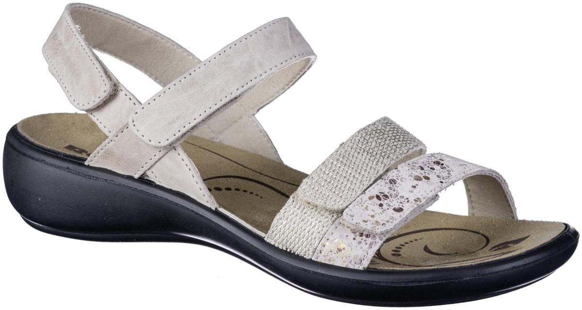 COOLCEPT Damen Mode Riemchen Sandalen Rei/ßverschluss
