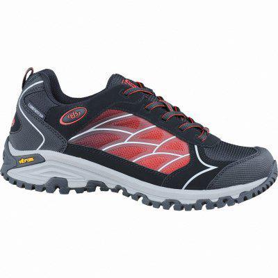 Brütting Valley Low Damen Comfortex Trekking Schuhe schwarz, Textilfutter, rutschfeste Vibram-Laufsohle, 4437117 42 schwarz rot